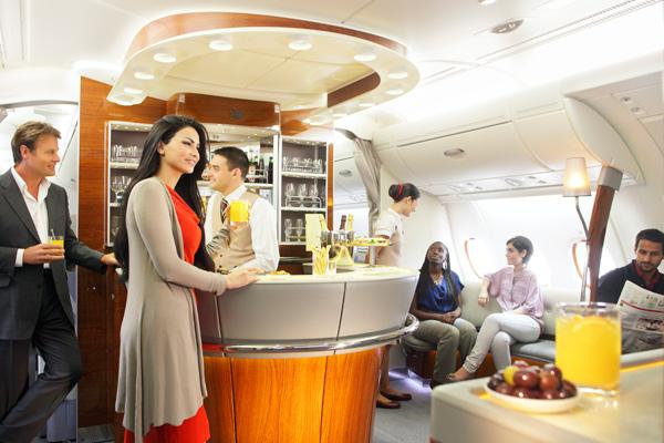 ヨーロッパへの乗継もお得!エアバスA380には機内ラウンジも
