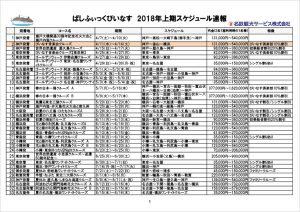 ぱしふぃっくびいなす 2018年4~10月スケジュール速報