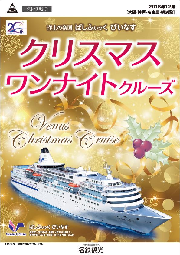 ぱしふぃっく びいなす クリスマス ワンナイトクルーズ