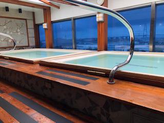 外国船唯一の大浴場・泉の湯