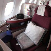 カタール航空エアバス380ビジネスクラス体験レポート