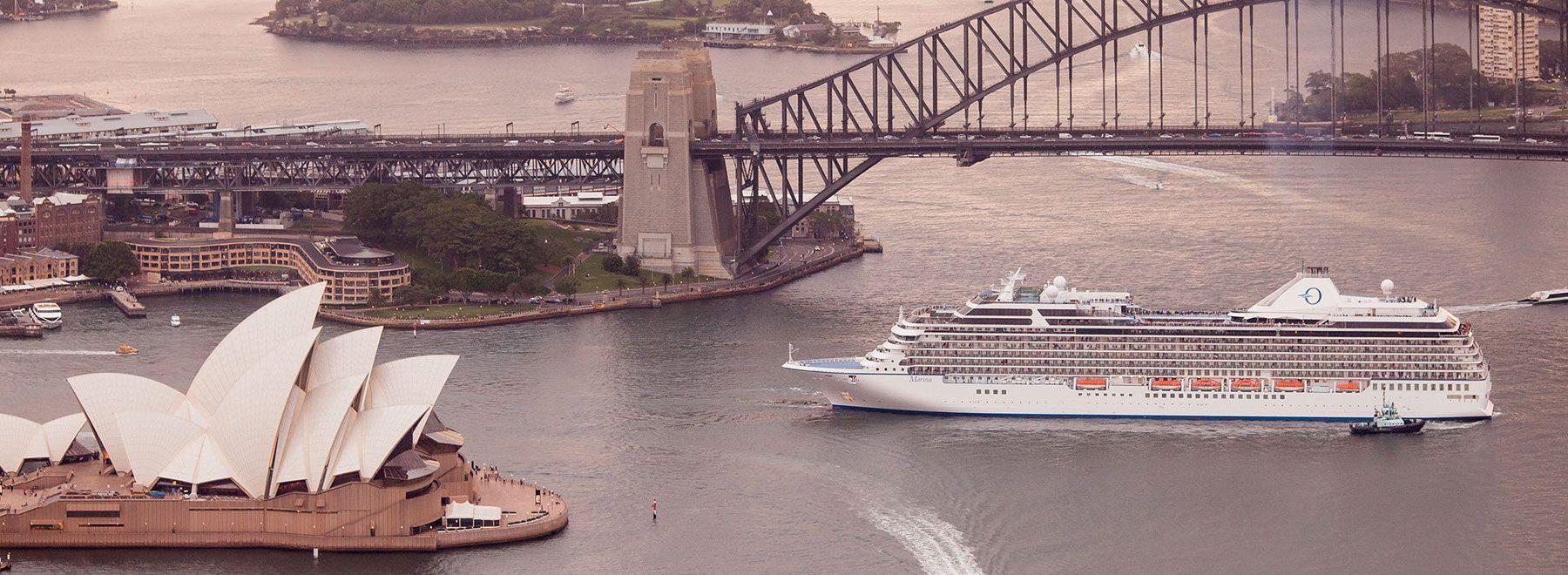 シドニーより出航するマリーナ