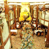 豪華客船「クイーン・ヴィクトリア」乗船記2 ~レストラン、ラウンジ、寄港地ブルージュの様子~