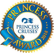 名鉄観光サービス株式会社 クルーズセクションは、プリンセスアワード 2018において、ポーラー賞を受賞しました。