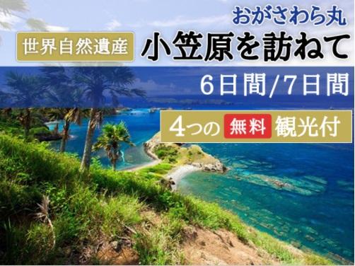 おがさわら丸 世界自然遺産 小笠原を訪ねて 6日間/7日間